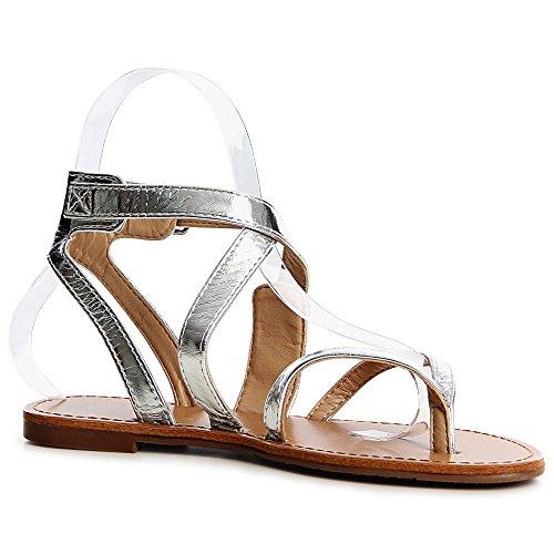 topschuhe24 - Sandalias para mujer plata