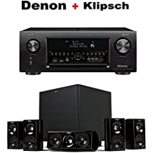 Denon AVR-X4400H 9.2 Channel AV Receiver with Wi-Fi, Dolby Atmos, DTS:X and HEOS + Klipsch HDT-600 Home Theater System Bundle