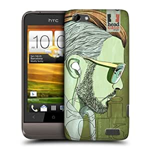 Head Case Designs Slicked Back Lineart Hairstyles Protective Snap-on Hard Back Case Cover for HTC One V by icecream design