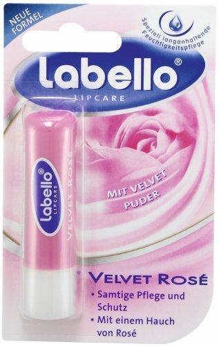 Labello Velvet Rose Lip Balm, 5 g stick by Labello