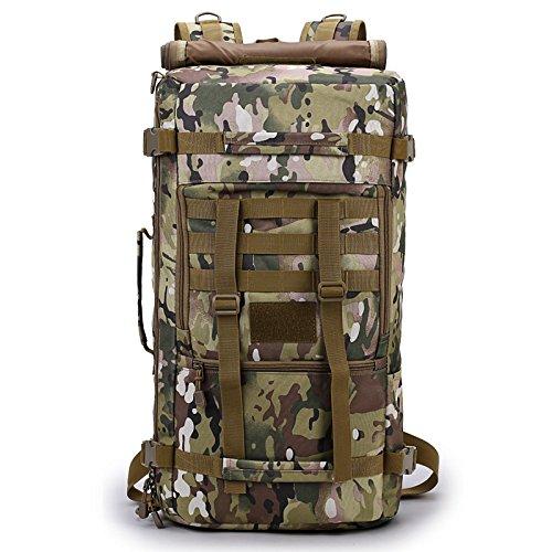 Chunsu 50L Hiking Backpack Camping Bag Army Military Tactical Rucksack Camo Trekking Large Bags(Italian Camouflage)