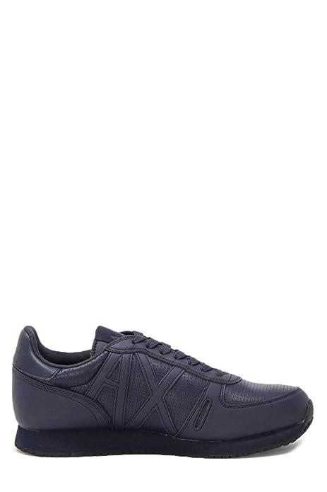 213e3d82c2dd Armani Exchange Hombre XUX017XCC04BLUE Azul Cuero Zapatillas  Amazon.es   Zapatos y complementos