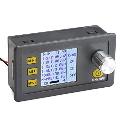 Constant Current Buck Converter, DROK Numerical Control Voltage Regulator DC-DC 4.5-23V 12v to 0-20V 9v 5v 2A Step Down Transformer Module Volt Stabilized Power Supply Board with LCD Display by DROK