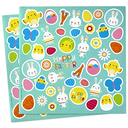 Hallmark Easter Stickers (Easter Bunny, Eggs, Butterflies-88 Stickers, Multicolored)