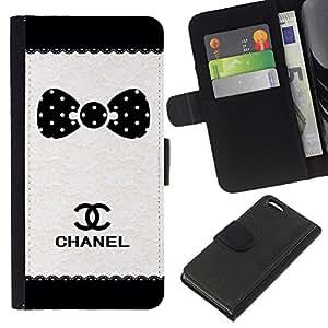 A-type (Dot Brand White Black Pattern) Colorida Impresión Funda Cuero Monedero Caja Bolsa Cubierta Caja Piel Card Slots Para Apple iPhone 5C
