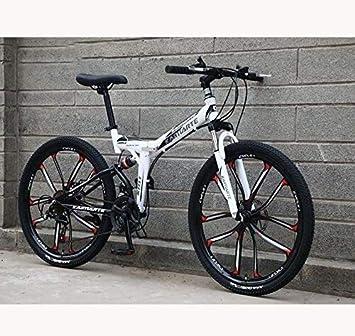 QZ Suspensión Plegable for Bicicleta Llena de la Bici de montaña ...
