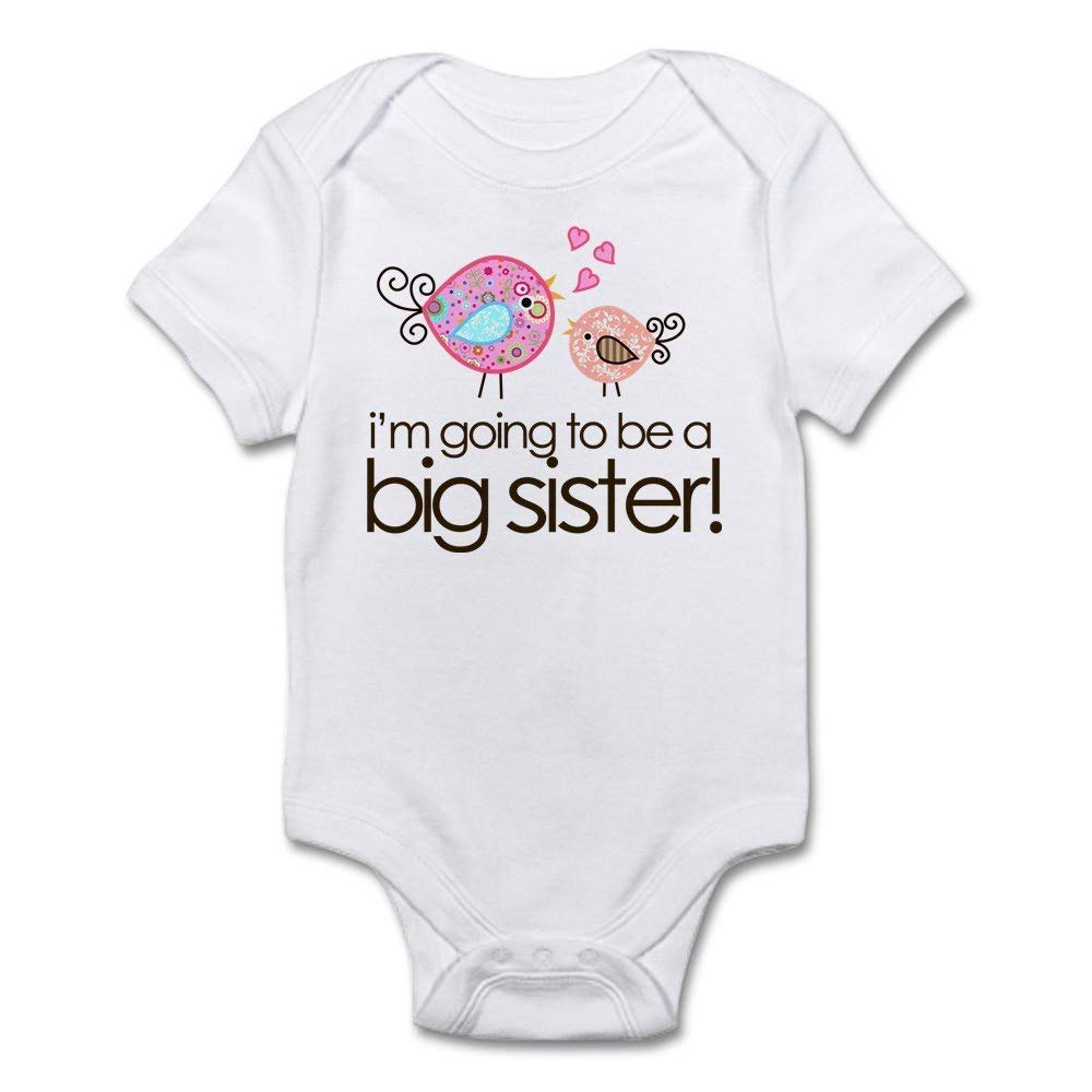 Ballkleid I'm Going to Be Big Sister Whimsy Bodysuit White One-Piece Newborn