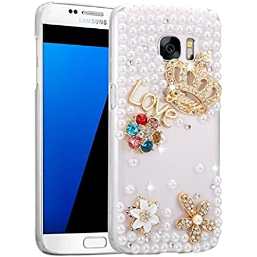 iPartsBuy For Samsung Galaxy S7 / G930 Diamond Encrusted Bling Crown Pattern PC Protective Case Back Cover Sales