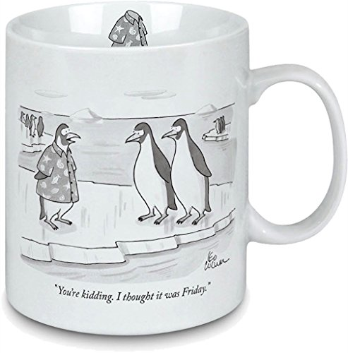 Price comparison product image Porcelain Mug - New Yorker Cartoon Casual Friday - Perfect gift for the office