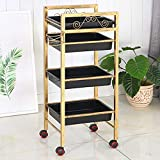 Hairdressing Trolley,4 Tier Hair Salon Storage Tray Cart Hairdressing Trolley