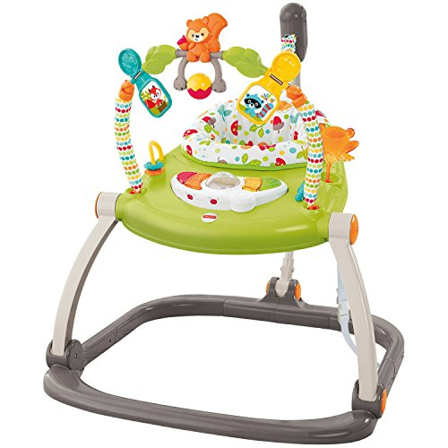 Fisher-price Lights And Sound Interactive Woodland Friends Spacesaver Baby Jumperoo With 4-position
