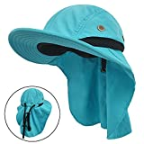 #7: LETHMIK Kids Outdoor Sun Hat,Waterproof Fishing Cap for Children with Neck Flap