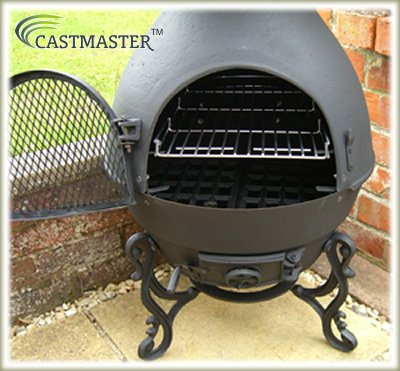 Exceptional Castmaster Pasadena Cast Iron Chiminea Pot Belly Wood Stove Patio Heater    FREE BBQ Grill Included: Amazon.co.uk: Garden U0026 Outdoors