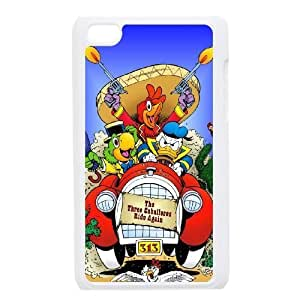 ipod 4 White phone case Classic Style Disney Cartoon Three Caballeros WHD8980458