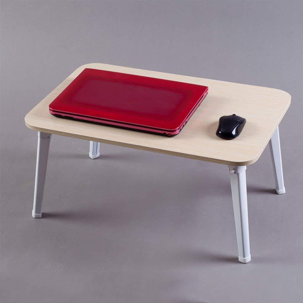 G ZXL Tavolo Pieghevole Laptop Scrivania Letto per casa Dormitorio per Studenti Pieghevole Staffa Semplice Piccola scrivania L60  W40  H29cm (Coloreee  A)
