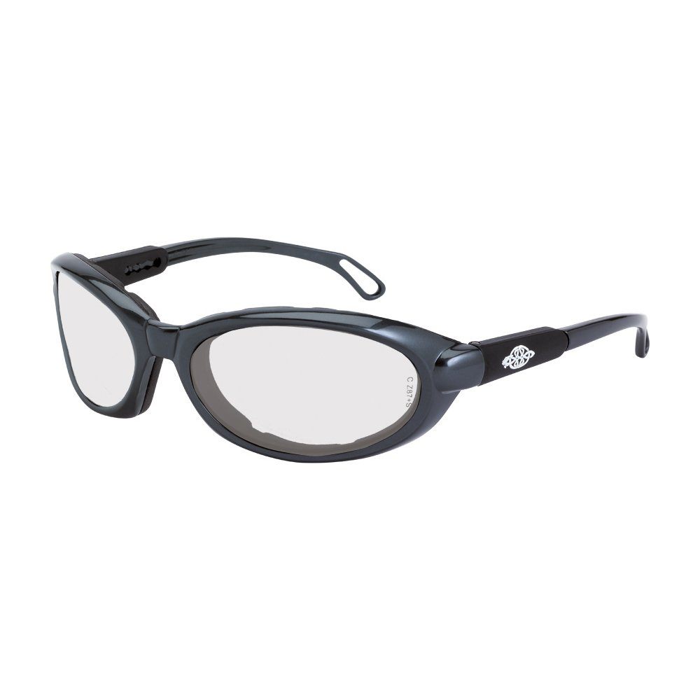 Crossfire Eyewear 11615 AF MK12 Foam Lined Safety Glasses with Gray Frame and Indoor Outdoor Lens