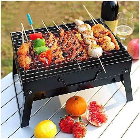 Wzz Portable Barbecue Charbon Pliable Barbecue Au Charbon Grill Accessoires pour Camping Pique-Nique Voyage