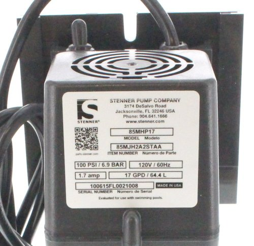Stenner Pump 85mhp17. Stenner Peristaltic Pump Adjustable Head - Rated at 0.8 to 17.0 gpd adjustable head. Rated at 100 psi. Ideal Chlorine Pump. Ideal Chlorine Injection Pump. Chlorinator Pump by Stenner Pump Company (Image #4)