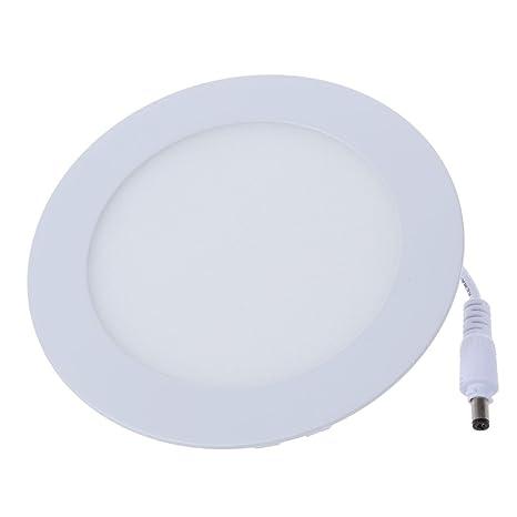 SODIAL (R) 9W LED 2835 Downlight lampara del panel SMD lampara de techo lampara de pared regulable Blanca