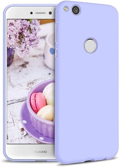 Cover per Huawei P8 Lite 2017 Custodia Silicone Case, Custodie Morbido Opaco Colore Caramella Ultra Sottile TPU Gomma Cassa Flessibile Gel Protettiva ...