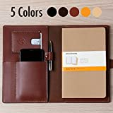 Coal Creek Leather Portfolio, Leather Journal for Moleskine 8.25 x 5 Notebooks - Wickett & Craig Full Grain Leather/Moleskine Notebook Case/JRNL1/Personalized