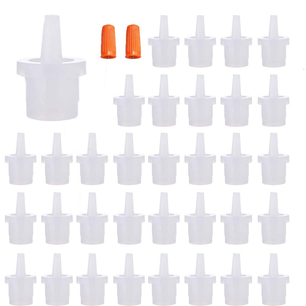 40pcs Eyelash Glue Replacement Eyelash Glue Bottle Nozzle Caps Universal Glue Bottle Mouth for Home or Salon
