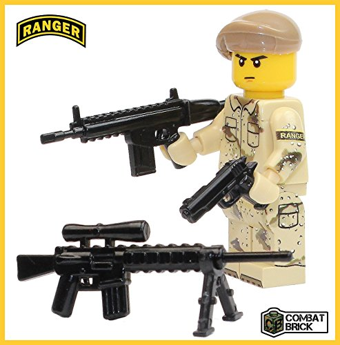 Army Ranger Dress Uniform (Premium Limited Edition US Army Ranger Minifigure - Custom Brick Builder Minifigure by CombatBrick)
