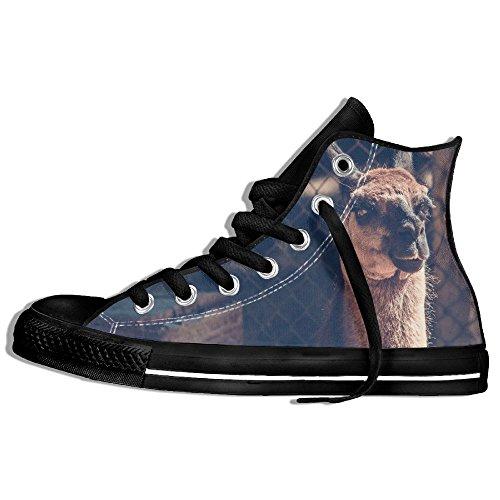 Baskets Montantes Classiques Chaussures De Toile Anti-dérapant Camel Look Clôture Marche Occasionnels Pour Hommes Femmes Noir