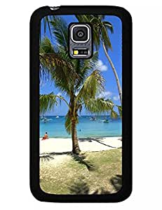 Well-Designed Tourist Attractions Ocean Beach Eco Friendly Plastic Cover Case for Samsung Galaxy S5 Mini SM-G800