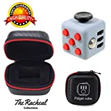 The Best Fidget Cube with Leather Box, Autism VHEM ADHD Fidget Cube, Fidget Toys For Children and Adults . Fidgeting Cube Relieves Stress, Anxiety and Relax by The Racheal Collections