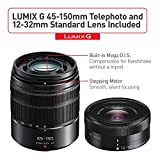 PANASONIC LUMIX GX85 Camera with 12-32mm and 45-150mm Lens Bundle, 4K, 5 Axis Body Stabilization, 3 Inch Tilt and Touch Display, DMC-GX85WK (Black USA)