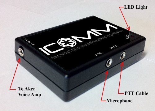 Voicebooster Icomm -Imperial Communication System -Static Burst Effect Like Stormtrooper Ptt Amplifier