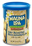 Mauna Loa Macadamias, Dry Roasted with Sea Salt, 4.5-Ounce Containers (Pack of 4)