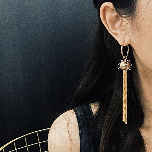 Goddess Golden Earrings - usongs elegant exaggerated personality goddess tassel earrings ear wire earrings gold earrings fashion women accessories