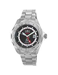 Grand Pro Diver GMT Stainless Steel Case and Bracelet Black Dial Magnified Date Display