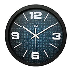 hito Silent Wall Clock Non Ticking 12 inch Excellent Accurate Sweep Movement, Modern Decorative for Kitchen, Living Room, Bathroom, Bedroom, Office (B blackframe)