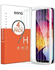 Eono by Amazon - [4 Pack] Screen Protectors for Samsung Galaxy A50/A30, Tempered Glass Film with [Alignment Frame][High Definition][Anti-Scratch][ No Bubbles][Case Friendly]