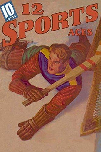 - Goalie Sprawled Out on the Ice Fine Art Canvas Print (20