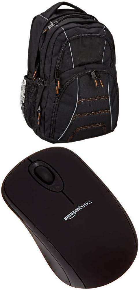 AmazonBasics Laptop Backpack (AB 103), with Wireless Mouse