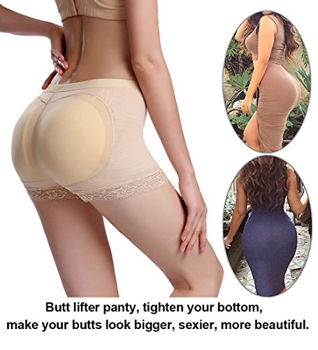 2e923cab7 Jenbou Women s Butt Lifter Shapewear Enhancer Padded Control Panties  Boyshort Seamless Briefs Fake Buttock Hip Lace Underwear - Buy Online in  UAE.
