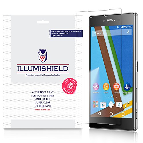 iLLumiShield - Sony Xperia Z5 Screen Protector Japanese Ultra Clear HD Film with Anti-Bubble and Anti-Fingerprint - High Quality Invisible Shield - Lifetime Warranty - [3-Pack]