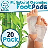 Foot Pads by Dr. Mark, 20 Premium Cleansing Foot Patches, Reflexology, 100% Natural Organic Bamboo Vinegar, Feet Patch, Sleep Renovation
