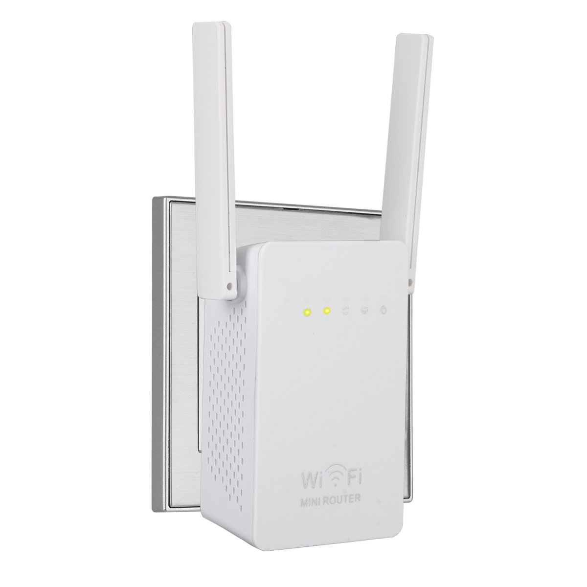 WiFi Extender, SERMICLE Wireless WIFI Booster Wi-Fi Range Extender Antenna Wifi AP/Repeater with Long Range Extender 180°Rotation Antenna WPS 300Mbps (300Mbps WAN/LAN) by Sermicle