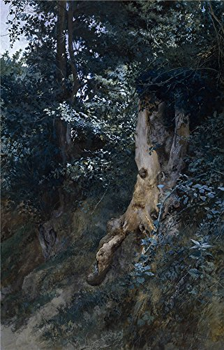 oil-painting-jimenez-aranda-jose-old-tree-trunk-1885-printing-on-high-quality-polyster-canvas-8-x-12