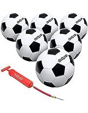 كرة قدم كلاسيكية من جو سبورتس مع مضخة فاخرة، متوفرة ككرات واحدة أو 6 حزم، اختر مقاسك
