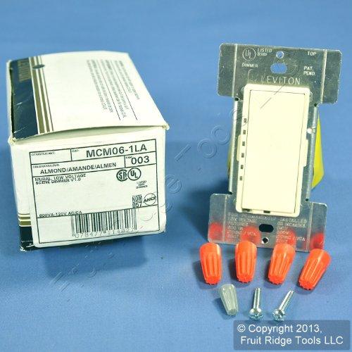 - Leviton Light Almond Mural Scene Dimmer Switch 600VA Low-Voltage 600W MCM06-1LA