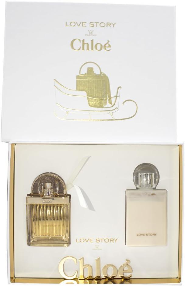 Set perfume de mujer Chloé Love Story (eau de parfum + loción corporal), pack de 1 unidad (1 x 1 pieza): Amazon.es: Belleza