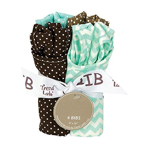 Trend-Lab Kids Toddler Infant Child Newborn Bouquet 4 Pack Bib - Cocoa Mint Toys Christmas ()