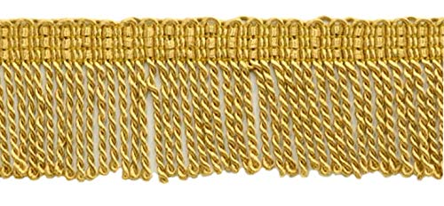 - DÉCOPRO 2 Inch Long Gold Thin Bullion Fringe Trim, Style# BFT2 Color: C4, Sold by The Yard