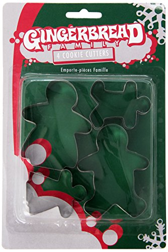 Fox Run 3553 Gingerbread Family Cookie cutters, 1.25 x 5.75 x 8.75 inches, Metallic (Conversation Cookie Cutters)
